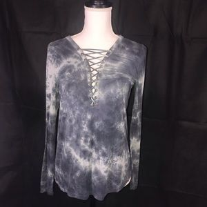 American Eagle Soft and Sexy LaceUp Long Sleeve